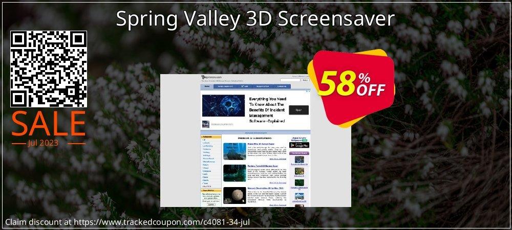 Get 50% OFF Spring Valley 3D Screensaver offering sales