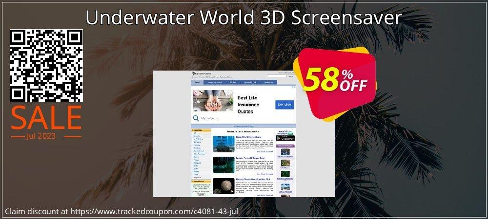Get 50% OFF Underwater World 3D Screensaver promo