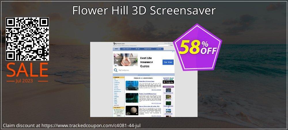 Get 50% OFF Flower Hill 3D Screensaver promo sales