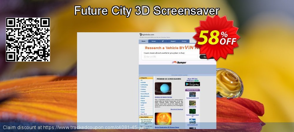 Get 50% OFF Future City 3D Screensaver offering sales
