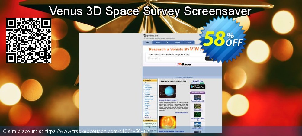 Get 50% OFF Venus 3D Space Survey Screensaver offering deals