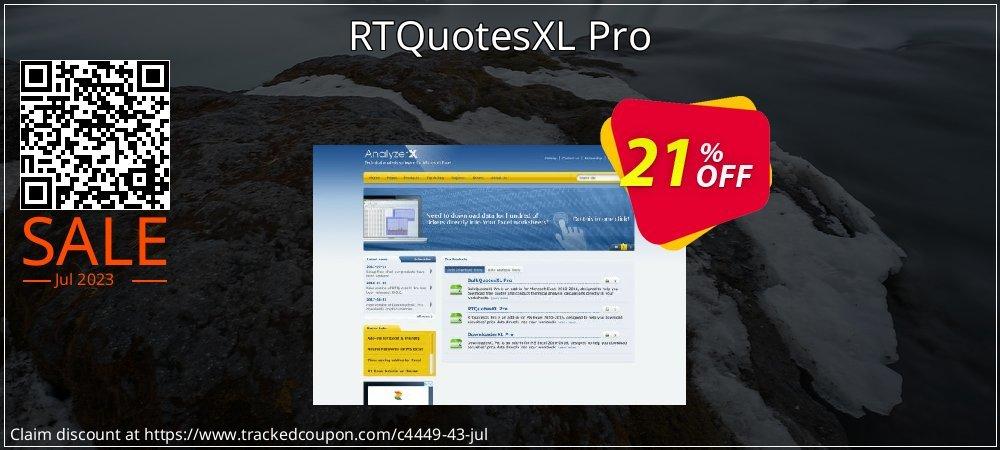 Get 20% OFF RTQuotesXL Pro offering sales