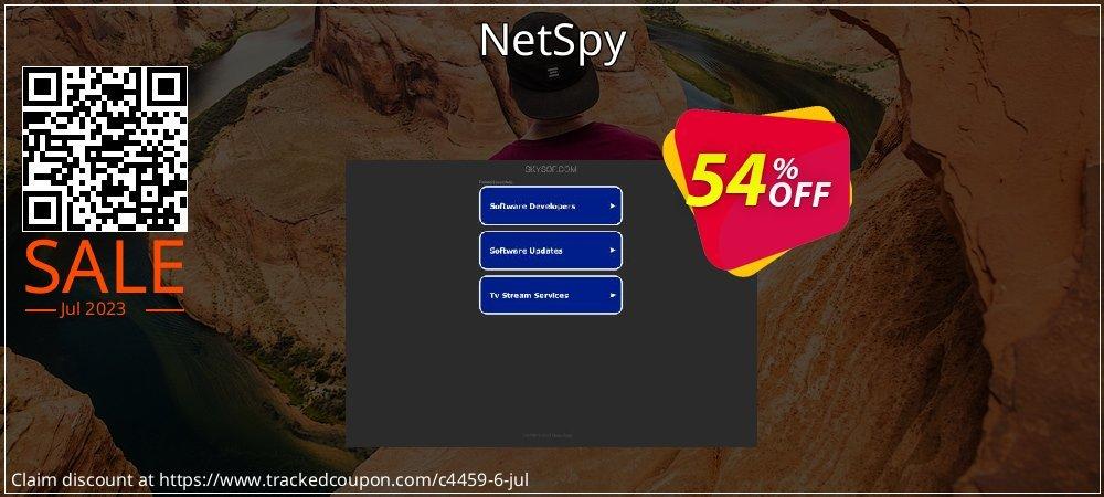 Get 50% OFF NetSpy offering sales