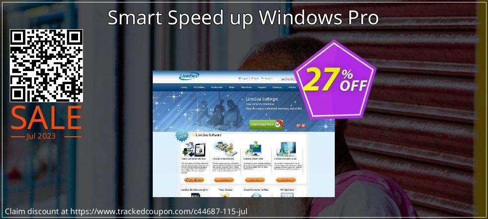 Get 25% OFF Smart Speed up Windows Pro offering sales