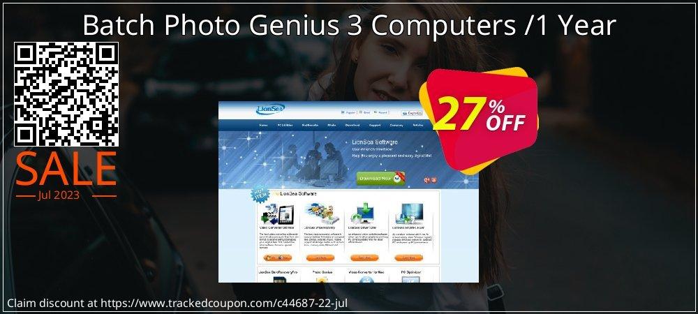 Get 25% OFF Batch Photo Genius 3 Computers /1 Year offering sales