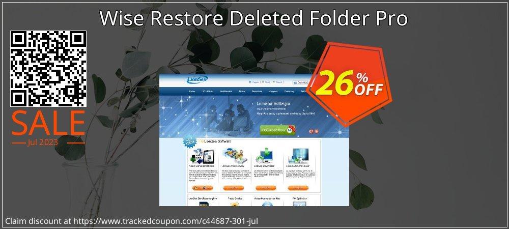 Get 25% OFF Wise Restore Deleted Folder Pro promo sales