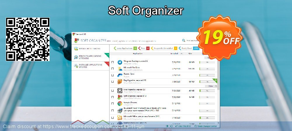 Get 15% OFF Soft Organizer promo