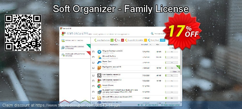 Soft Organizer - Family License coupon on Halloween offer