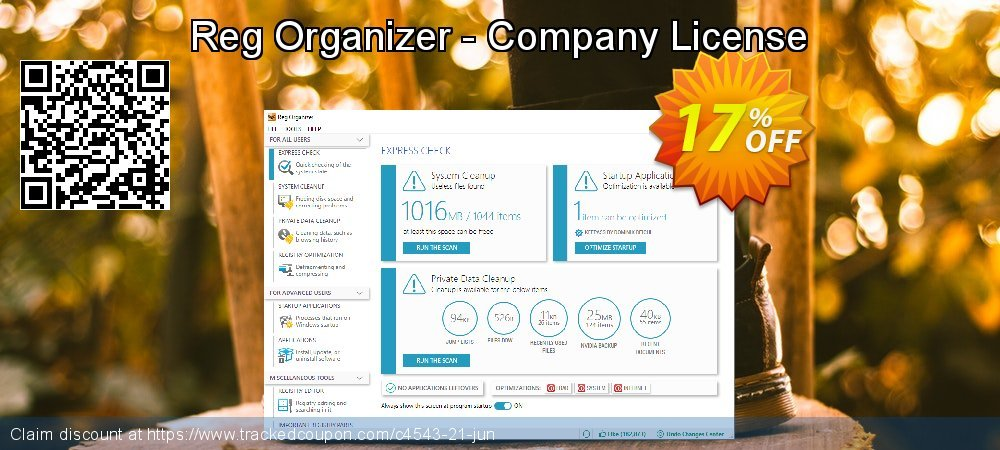 Reg Organizer - Company License coupon on Halloween sales