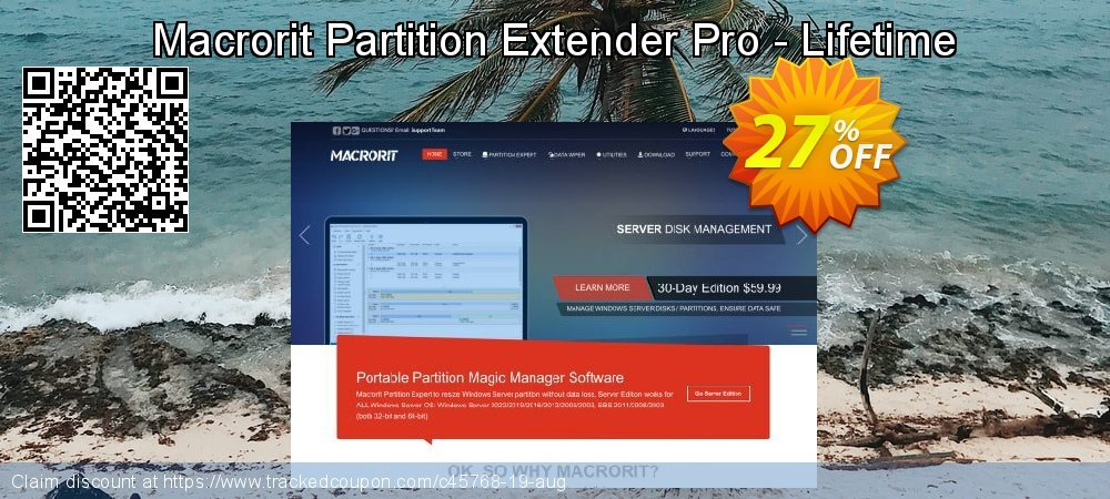 Macrorit Partition Extender Pro - Lifetime coupon on Back to School promotions offer