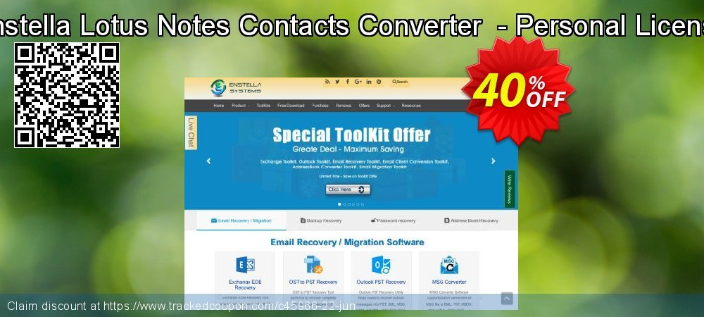 Get 40% OFF Enstella Lotus Notes Contacts Converter - Personal License discounts