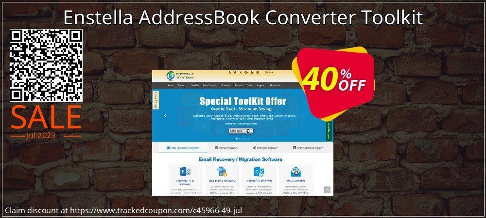 Get 40% OFF Enstella AddressBook Converter Toolkit offering sales