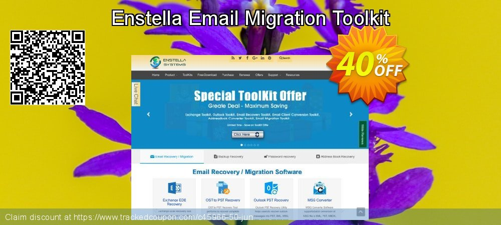 Get 40% OFF Enstella Email Migration Toolkit discount