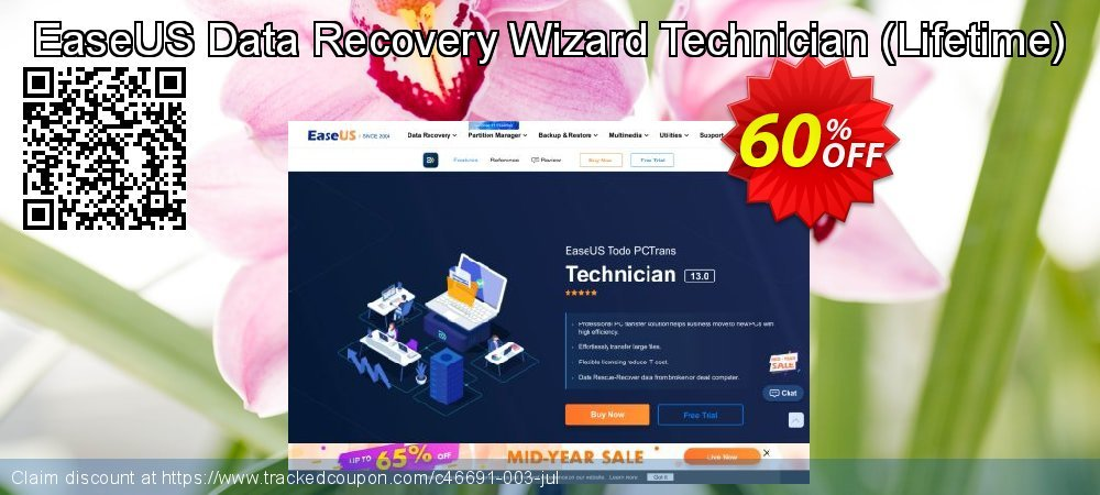 Claim 50% OFF EaseUS Data Recovery Wizard Technician Lifetime Coupon discount February, 2020
