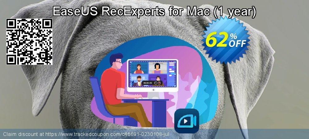 EaseUS RecExperts for Mac - 1 year  coupon on Valentines Day offering discount