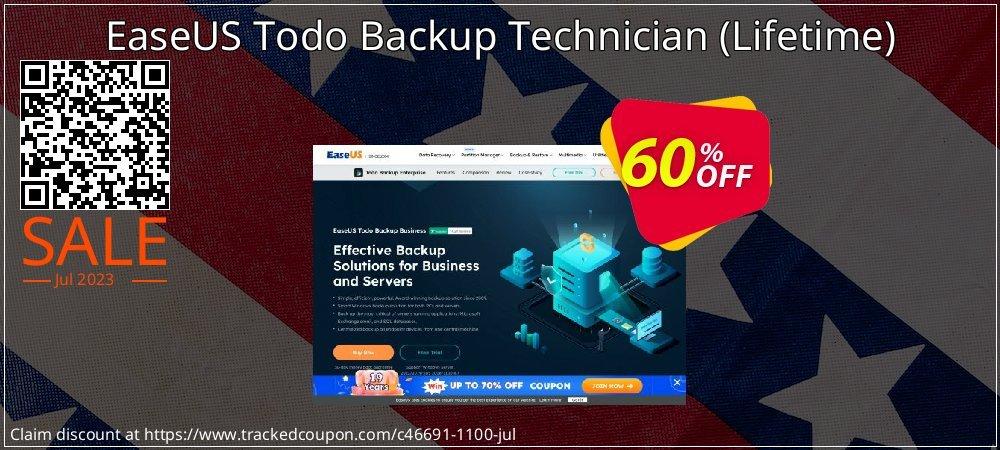 EaseUS Todo Backup Technician - Lifetime  coupon on Valentine Week deals