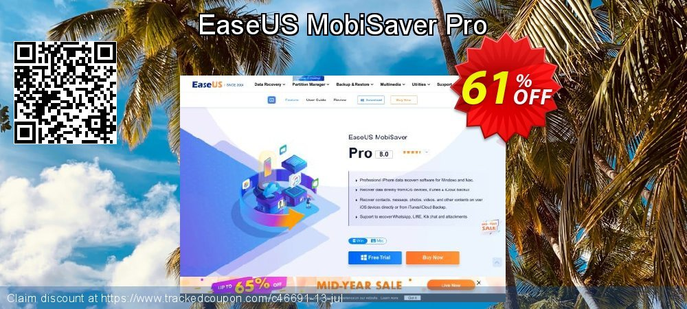 EaseUS MobiSaver Pro coupon on Int'l. Women's Day offering discount