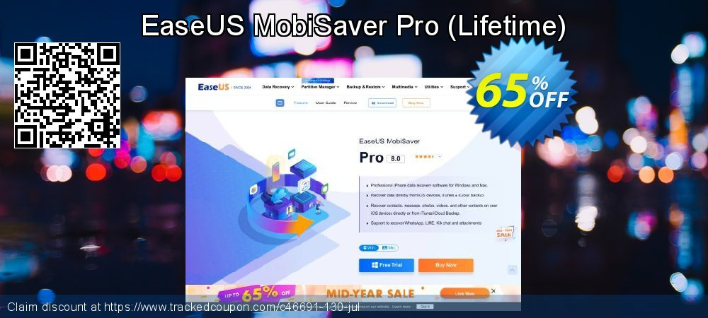 EaseUS MobiSaver Pro - Lifetime  coupon on Valentine Week discount