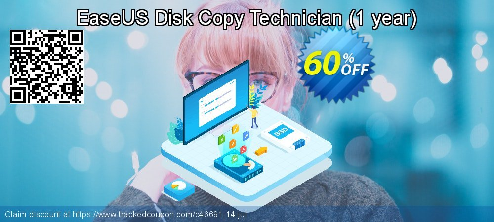 EaseUS Disk Copy Technician - 1 year  coupon on Valentine's Day offering discount