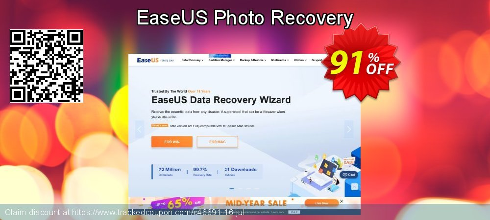 EaseUS Photo Recovery coupon on Int'l. Women's Day discounts