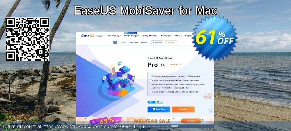 EaseUS MobiSaver for Mac coupon on Super bowl discounts