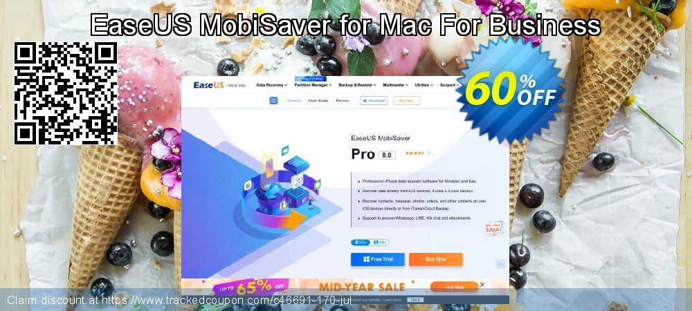 EaseUS MobiSaver for Mac For Business coupon on Valentine Week discounts