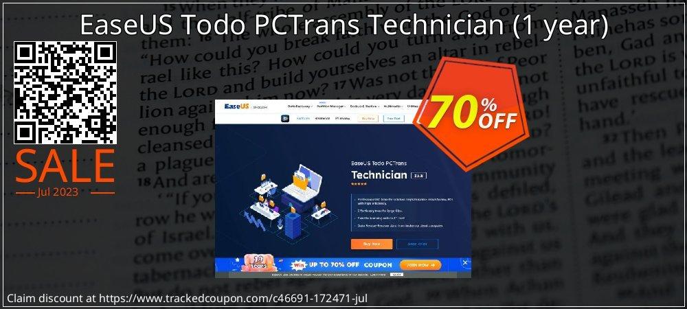 EaseUS Todo PCTrans Technician - 1 year  coupon on  Lover's Day discount