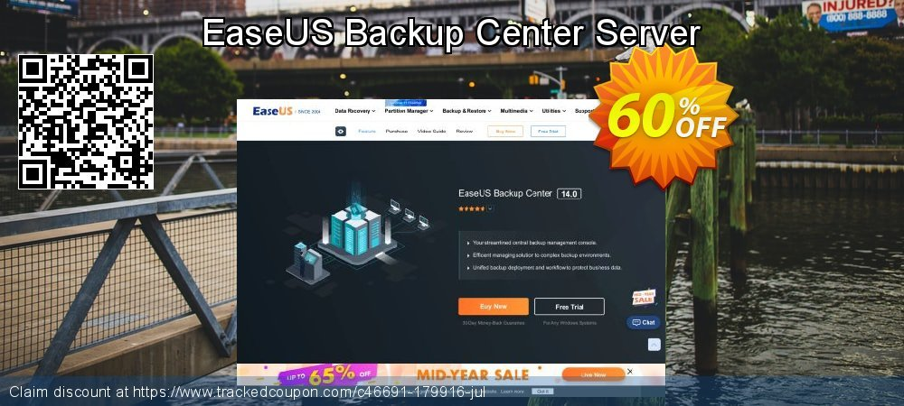 EaseUS Backup Center Server coupon on  Lover's Day offering sales