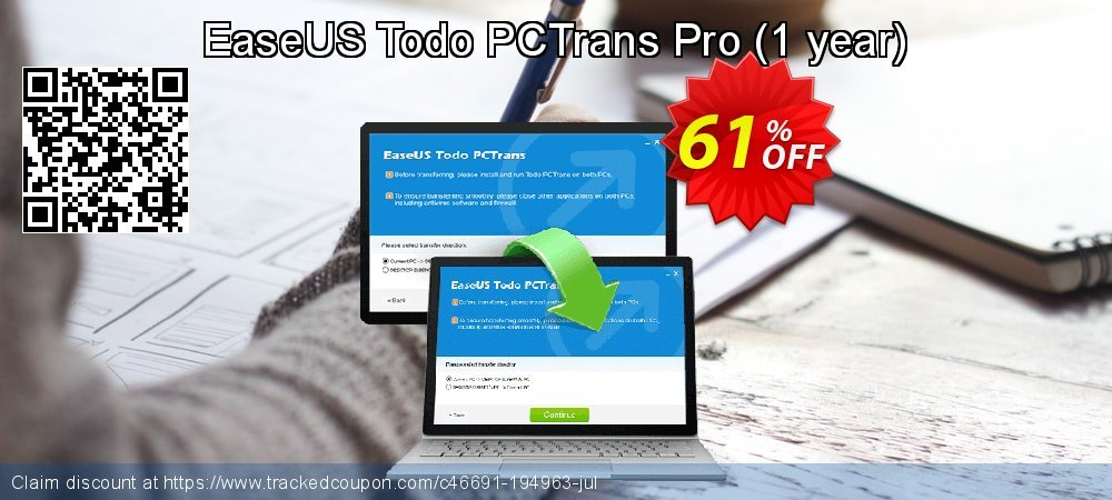 EaseUS Todo PCTrans Pro - 1 year  coupon on Read Across America Day offering sales