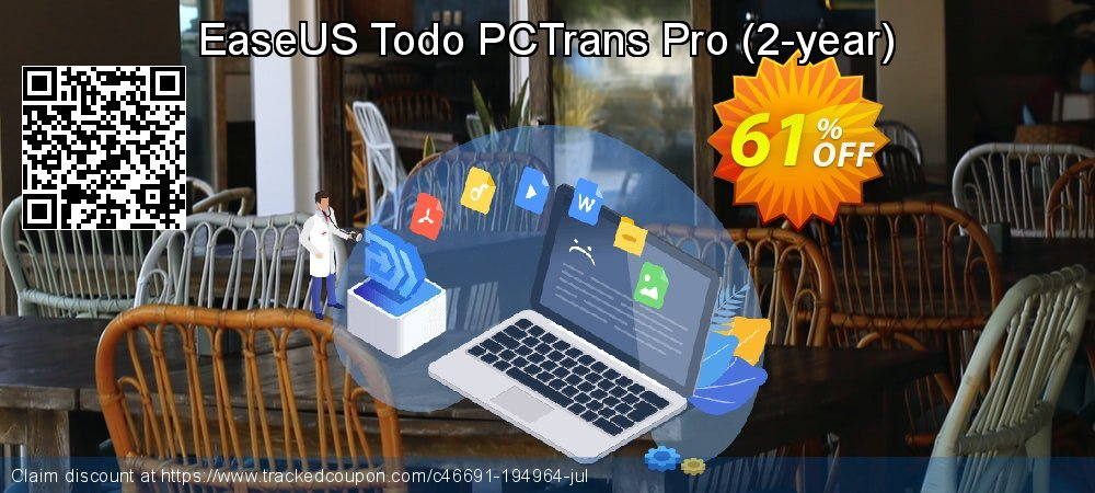 EaseUS Todo PCTrans Pro - 2-year  coupon on Natl. Doctors' Day super sale