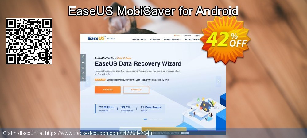 Claim 42% OFF EaseUS MobiSaver for Android Coupon discount October, 2020