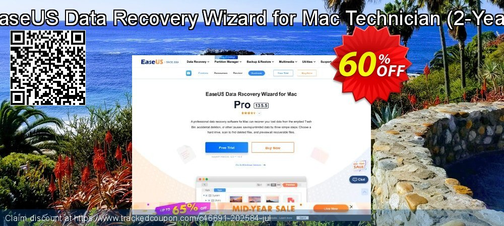 EaseUS Data Recovery Wizard for Mac Technician - 2-Year  coupon on Valentine's Day offer