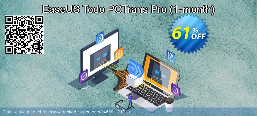 EaseUS Todo PCTrans Pro - 1-month  coupon on Father's Day sales