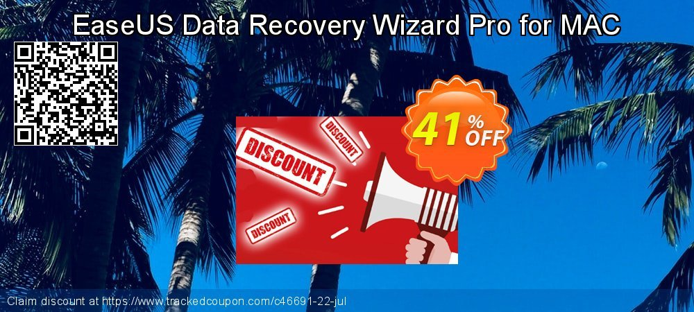 Claim 41% OFF EaseUS Data Recovery Wizard Pro for MAC Coupon discount May, 2020
