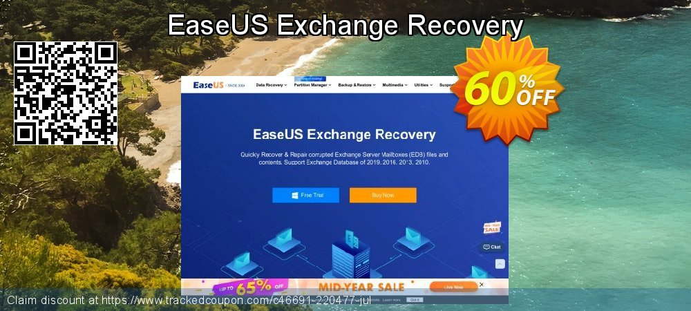 Claim 40% OFF EaseUS Exchange Recovery Coupon discount October, 2020