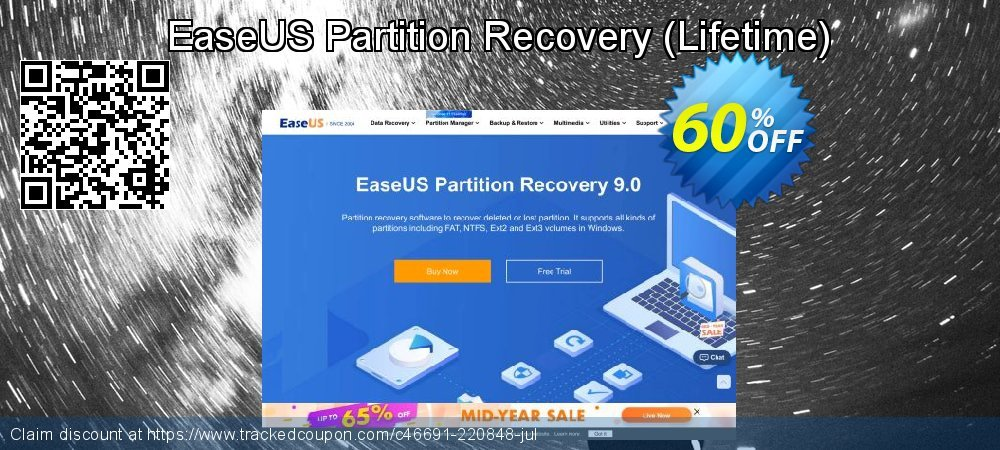 EaseUS Partition Recovery - Lifetime  coupon on Valentines Day offering sales