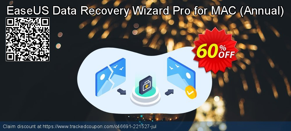 Claim 50% OFF EaseUS Data Recovery Wizard Pro for MAC - Annual Coupon discount October, 2020