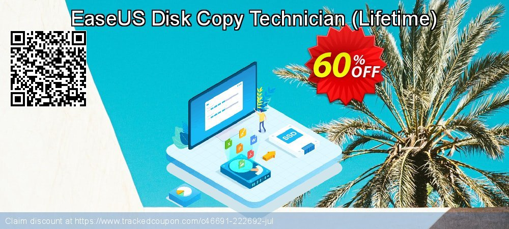 EaseUS Disk Copy Technician - Lifetime  coupon on Super bowl offering discount