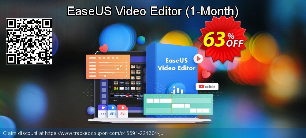 EaseUS Video Editor - Monthly  coupon on April Fool's Day discount
