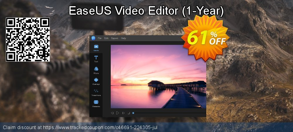 EaseUS Video Editor - 1-Year  coupon on Valentine Week super sale