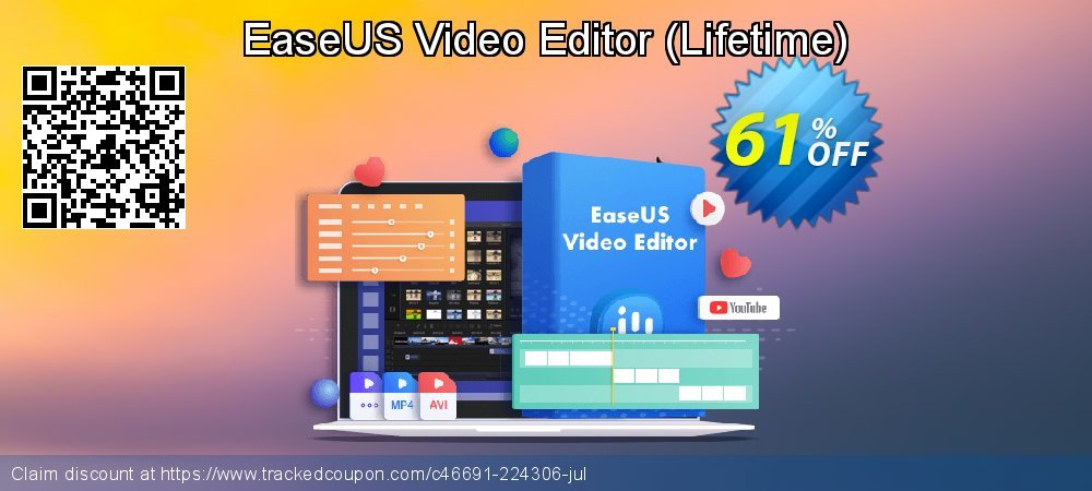 EaseUS Video Editor Lifetime coupon on April Fool's Day offering sales