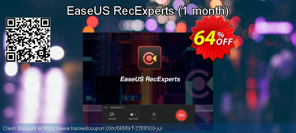 EaseUS RecExperts - 1 month  coupon on Read Across America Day offering sales