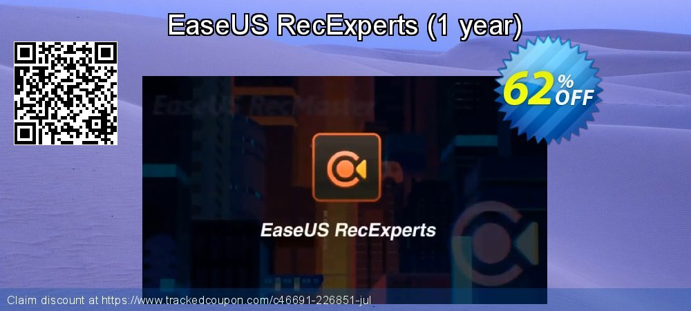 EaseUS RecExperts - 1 year  coupon on Natl. Doctors' Day super sale