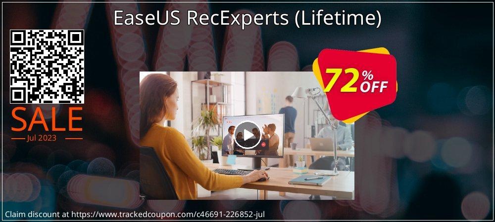 EaseUS RecExperts - Lifetime  coupon on Super bowl super sale