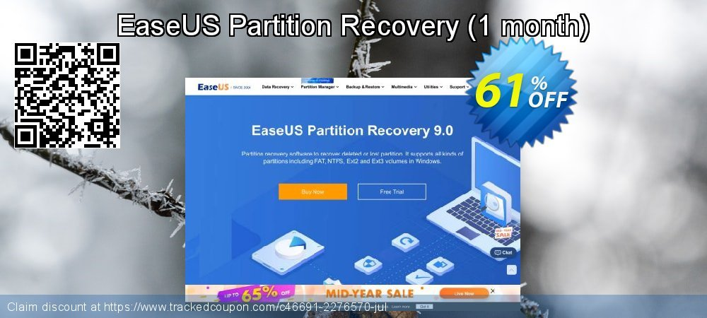 EaseUS Partition Recovery - 1 month  coupon on Valentine Week deals