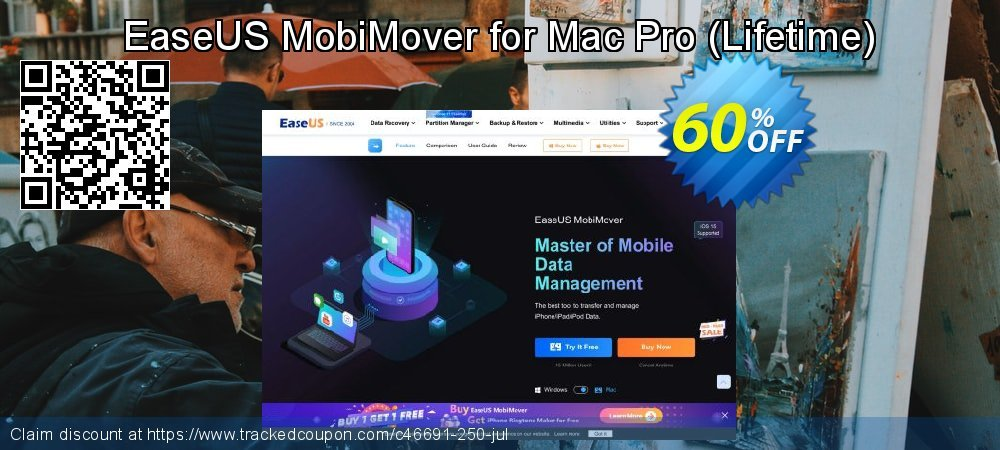 EaseUS MobiMover for Mac Pro - Lifetime  coupon on Int'l. Women's Day discounts