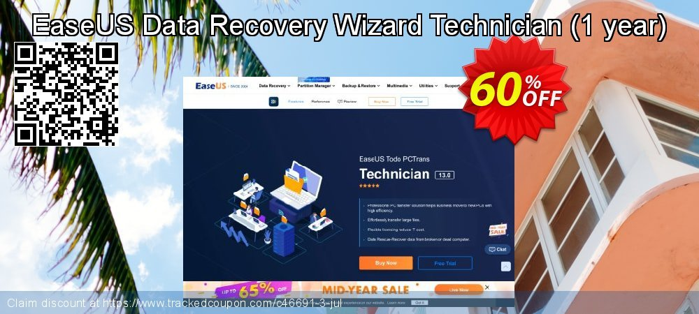 Claim 50% OFF EaseUS Data Recovery Wizard Technician Coupon discount October, 2020