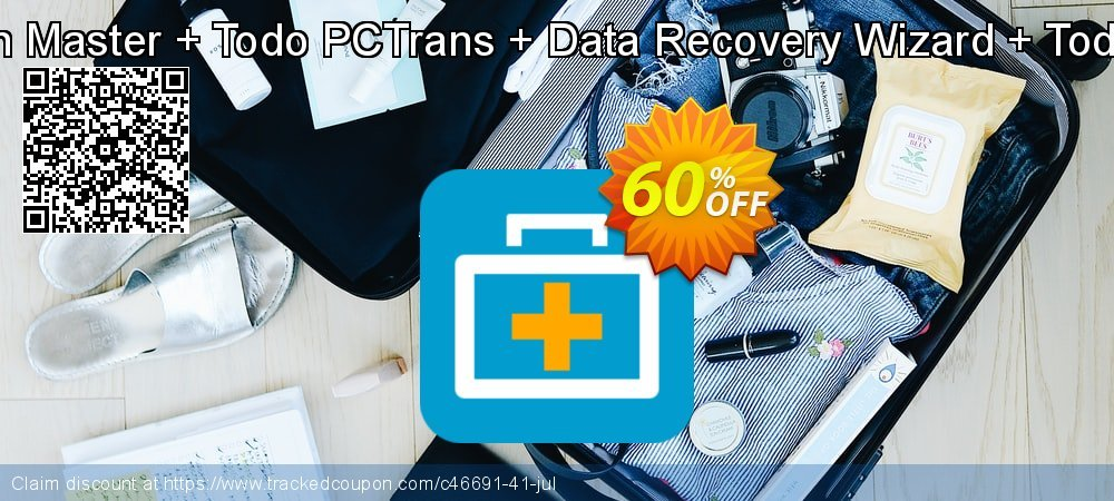 Bundle: EaseUS Partition Master + Todo PCTrans + Data Recovery Wizard + Todo Backup Home Lifetime coupon on American Independence Day sales