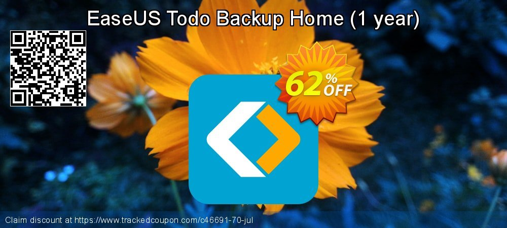 EaseUS Todo Backup Home - 1 year  coupon on Valentine Week super sale