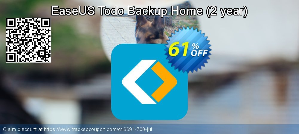 EaseUS Todo Backup Home - 2 year  coupon on Int'l. Women's Day discounts